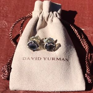 David Yurman Châtelaine Earrings with Black Orchid
